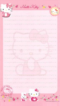 HK Free Printable Stationery, Printable Planner Stickers, Hello Kitty Iphone Wallpaper, Hallo Kitty, Hello Kitty Pictures, Kawaii Diy, Sanrio Hello Kitty, Stationery Paper, Note Paper