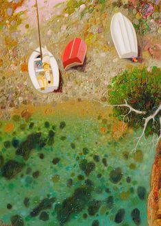 (+2) Аура идеального сна... Художник Pedro Roldan Molina Simple Oil Painting, Painting & Drawing, Naive Art, Impressionism, Art Inspo, Landscape Paintings, Amazing Art, Street Art, Artsy