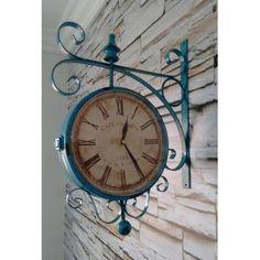 Relógio De Estação Dupla Face Vintage Retrô - Lindo