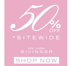 Excited to announce we've extended our Cyber Monday sale for one more day! Shop everything 50% off with code GIVINGSR