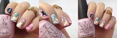 Sailor Chibimoon inspired nailart by http://nisinails.de/sailor-moon-blogparade-sailor-chibi-moon-nails/