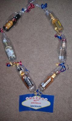 An Alcohol Lei I Made For My Daughters Boyfriends 21st Birthday Its A GREAT Gift