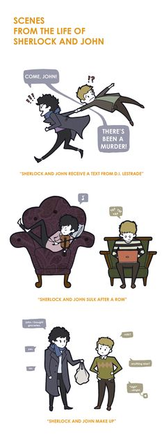 Scenes from the Life of Sherlock and John by ~portmanteau-press on deviantART