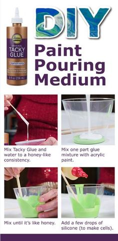Tacky Glue as Paint Pouring Medium Tacky Glue as Paint Pouring Medium,Crafty Stuff Aleene's Glue Products Glue Art, Glue Painting, Gouache Painting, Painting Canvas, Painting Abstract, Painting Tips, Acrylic Pouring Techniques, Acrylic Pouring Art, Paint Pouring Medium