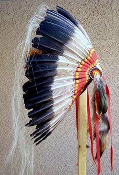 Native American Made Feather Hand Beaded Warbonnet Head Dress Headdress | eBay