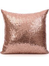 18 Inch cm) Europe Luxurious Sequin Pillow Cushion Cover Pillow Case (Rose Gold) by Netlab-Pillowcover *** You can get more details by clicking on the image. (This is an affiliate link) Rose Gold Room Decor, Rose Gold Rooms, Gold Bedroom Decor, Gold Home Decor, Bedroom Ideas, Rose Gold Throw Pillows, Couch Pillow Covers, Bolster Pillow, Gold Home Accessories
