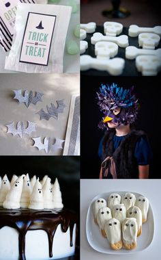 {1. treat bags 2. dessert table 3. Bat toppers 4. sweet paul costumes 5. Boo-tiful cake 6. Ghost cookies} I never celebrated Halloween as a kid, mostly because it was not so common here in KL. I would have loved...