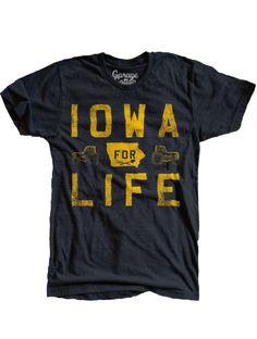00399ab34 University of Iowa - Iowa for Life - Men s T-Shirt - Black