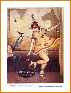 You Just Know She wears them - Love vintage McCallum Hosiery ad from 1920. #vintage #1920s #stockings