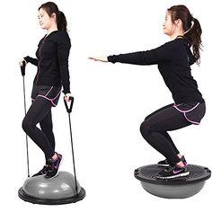 Balance Trainer Half Ball Yoga Exercise Workout Gray