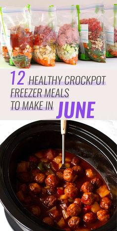 12 Healthy Freezer Crockpot Meals to Make in June. Are you looking for new recip… 12 Healthy Freezer Crockpot Meals to Make in June. Are you looking for new recipes to try this month? I've got you covered. These recipes… Continue Reading → Crock Pot Freezer, Healthy Freezer Meals, Make Ahead Meals, Easy Meals, Freezer Recipes, Recipes To Freeze, Healthy Crockpot Freezer Meals, Freezer To Crockpot Meals, Crockpot Summer Meals
