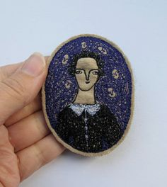 RESERVED elegant woman with purple  an original by cathycullis, £38.00