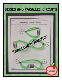 Series and Parallel Circuits by Innovative Teacher. Included are handouts, worksheets, an activity and quizzes that will help your students gain a better understanding of series and parallel circuits. Science Resources, Science Lessons, Teaching Science, Science Activities, Science Experiments, Teacher Resources, Teacher Pay Teachers, Creative Teaching, Teaching Ideas