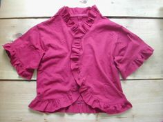 How to Restyle a T-Shirt into a Ruffly Cardigan - CraftStylish