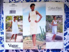 Vogue Pattern   1591       CALVIN KLEIN   -  Size 12-14-16     - Uncut