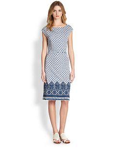 Tory Burch - Jamie Mixed-Print Jersey Dress - Saks.com