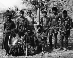 Roger Cole with fellow SAS 'trainers' and local troops in just before the war finished - pictured with a captured Russian Katyusha rocket Sas Special Forces, Military Special Forces, Military Art, Military History, Military Life, Special Air Service, World Conflicts, British Army, British Isles