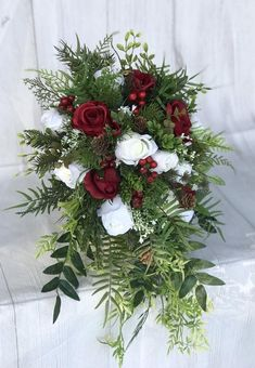Top *Bridal Bouquet wide by long* *Bridesmaid Bouquets inches* Wh. - Top *Bridal Bouquet wide by long* *Bridesmaid Bouquets inches* Wh. Christmas Wedding Bouquets, Winter Bridal Bouquets, Cascading Bridal Bouquets, Cascading Wedding Bouquets, Winter Bouquet, Cascade Bouquet, Flower Bouquet Wedding, Rose Bouquet, Bridesmaid Bouquets