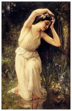 018- Una ninfa en el bosque-Charles-Amable Lenoir -via Sights Within