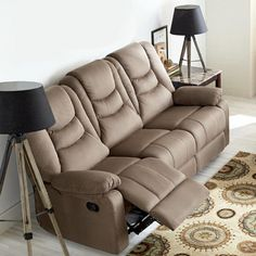 'Stratton II' Collection Space Saver Reclining Sofa Condo Furniture, Online Furniture, Canada Shopping, Reclining Sofa, Decoration, Recliner, Mattress, Space Saver, Beautiful Homes