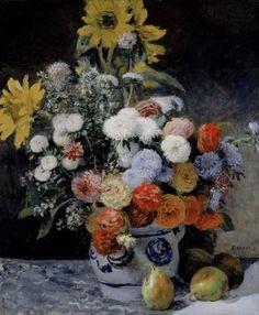 Pierre Auguste Renoir Poster Mixed Flowers In An Earthenware Pot