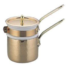 Amazon.com: Mauviel MTradition 2703.12 Copper 0.8-Quart Bain Marie Double Boiler with Porcelain Insert