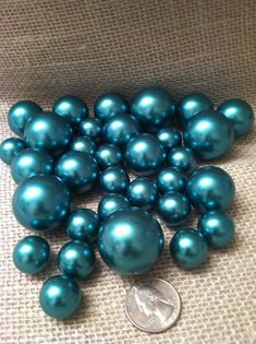 Classic Green Pearls For Floating Pearl Centerpieces, Jumbo Pearls Vase Fillers, Scatters, Confetti