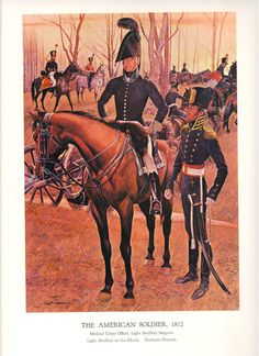 Medical Corps Officer mounted and Light Artillery by lehiboublanc, $14.00