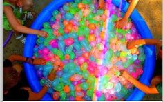 Fill water balloons with paint!