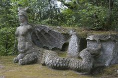 The Park of Monsters, Bomarzo, Italy - not exactly a gargoyle but awesome!
