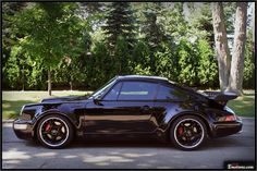 Porsche 964 Turbo in black - want one now, please.