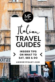 Insider Italy Travel Guides // One Perfect Day in... Tips on what to see, eat and do all around the country. // amerryfeast.com #italytravel