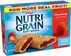 Nutri-Grain Strawberry breakfast bars are soft baked and made with whole grains and real fruit to help you rise and thrive! Strawberry Breakfast, Strawberry Puree, Confectioners Glaze, Cereal Bars, Nutritious Breakfast, No Bake Bars, Breakfast Bars, Granola Bars, My Favorite Food