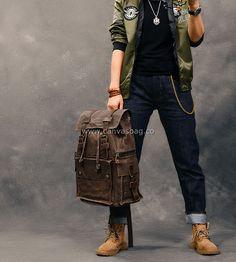 waxed canvas bag rucksack backpack