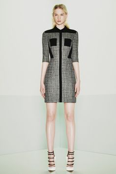 Prabal Gurung tweed fitted dress | Resort 2015 Collection | Style.com