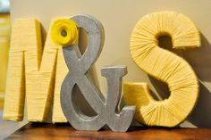 6 Ways To DIY Your Initials. Could do this with cardboard or something, then use whatever for decoration! Can do boys names and baby girl.