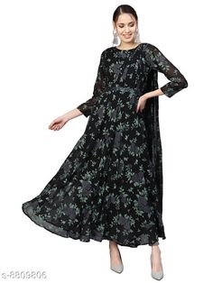 Checkout this latest Kurtis Product Name: *Ahalyaa Women's Printed Georgette Long Anarkali Kurti* Fabric: Georgette Sleeve Length: Three-Quarter Sleeves Pattern: Printed Combo of: Single Sizes: S (Bust Size: 36 in, Size Length: 55 in)  M (Bust Size: 38 in, Size Length: 55 in)  L (Bust Size: 40 in, Size Length: 55 in)  XL (Bust Size: 42 in, Size Length: 55 in)  XXL (Bust Size: 44 in, Size Length: 55 in)  Easy Returns Available In Case Of Any Issue   Catalog Rating: ★4.2 (921)  Catalog Name: Ahalyaa Sensational Kurtis CatalogID_1507766 C74-SC1001 Code: 8601-8809806-9992