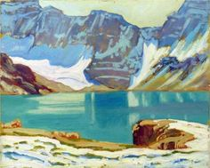 Lake McArthur, Yoho Park - J. E. H. MacDonald, 1924, 'Group of Seven' Canada