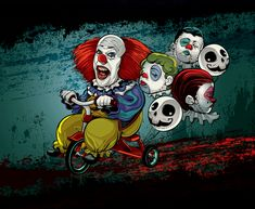 Horror Movie Villains: byCristiano Siqueira - IT - Pennywise