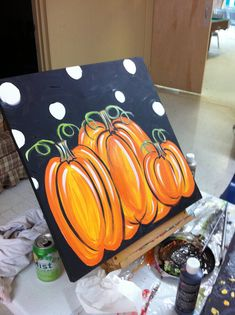 now i want to make this pumpkin painting- LOVE!