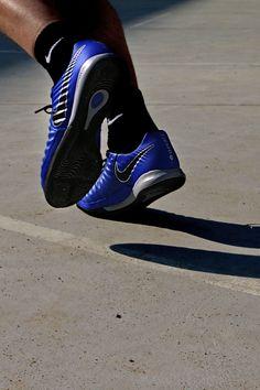 8d1896d88d Zapatillas de fútbol sala de piel Nike FootballX con suela lisa IC - azules   nike