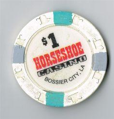 $1 HORSESHOE CASINO CHIP FROM BOSSIER CITY LOUISIANA