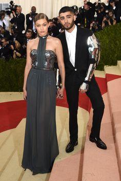 Gigi Hadid and Zayn Malik in Tommy Hilfiger & Versace