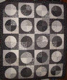 drunkard's path quilt | Matt's Quilt (Drunkard's Path block)