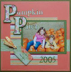 Cricut Scrapbooking Page - Pumpkin Patch