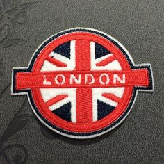LONDON Patches iron on patches UK Flat Patches Patches Iron on Patchwork London flat badge awesome accessories Circle Fleckenworld 2.29 USD