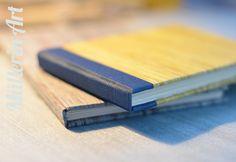Selbstgefertigte Notizbücher aus Papierresten