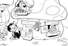 Resultado de imagem para desenhos para colorir dos smurfs