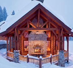 I love this cute log cabin. Sweet!