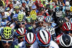 Week of Apr 18-24, 2015 A pack of riders climbs the 'Wall of Huy' on Wednesday during the Flèche Wallonne Classic cycling race in Belgium. FRANCOIS LENOIR/REUTERS